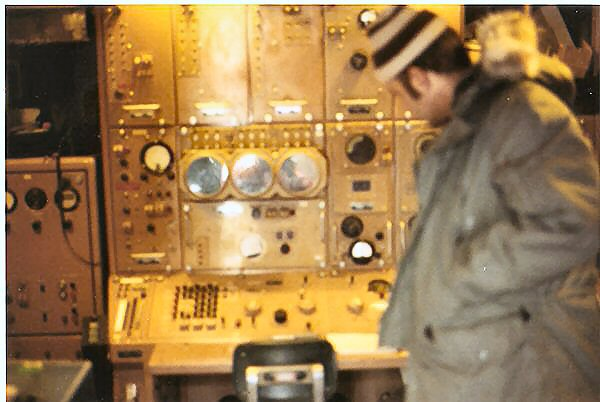 Roland Burgan gets overview of Missile Status/Launch Control Console.