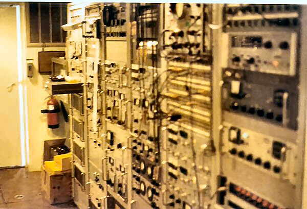 View of telemetry & test equipment racks.
